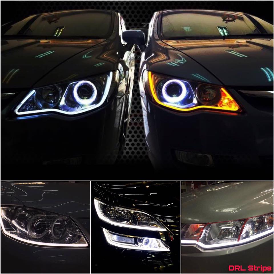 Car DRL Flexible LED Night & Daytime Running Light Strip