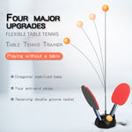 (50% OFF and Free Shipping)2019 Elastic Flexible Shaft Rebound Table Tennis Trainer