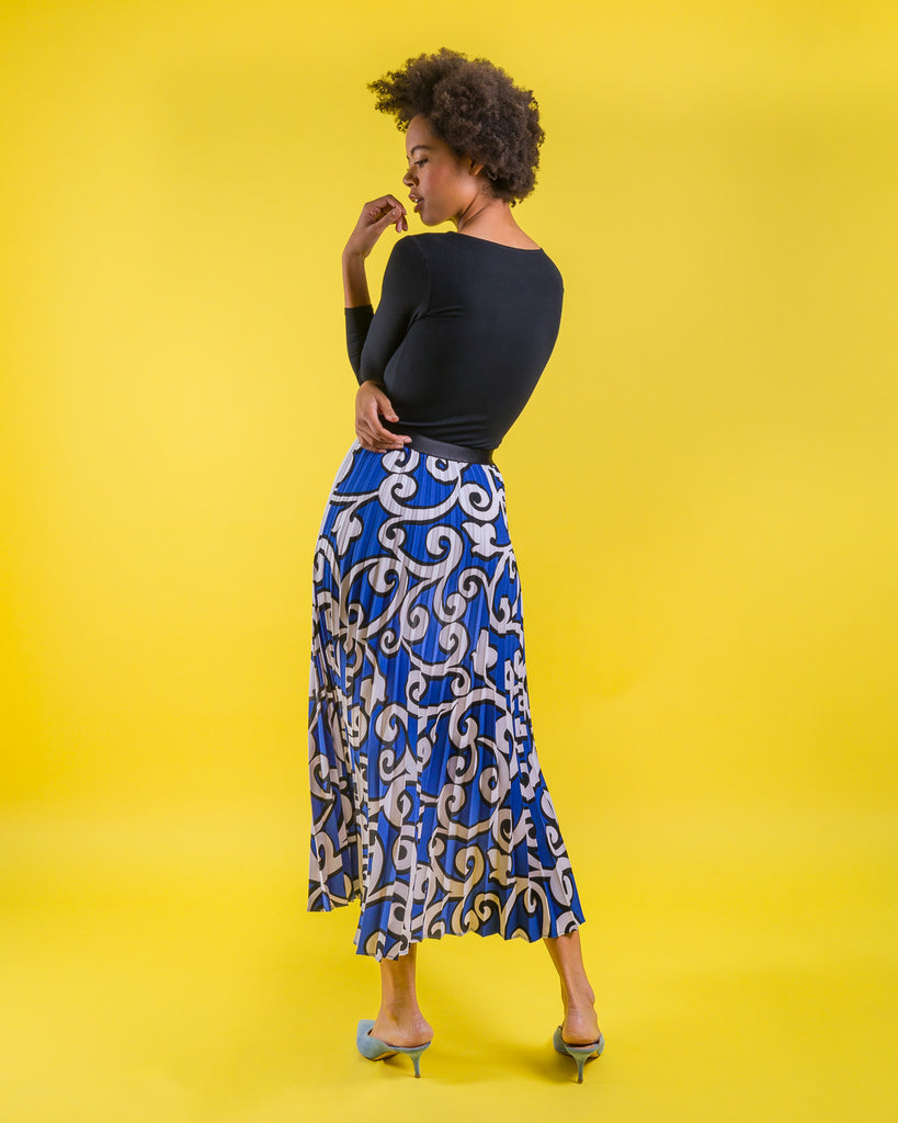 Swirl Sunburst Skirt Long
