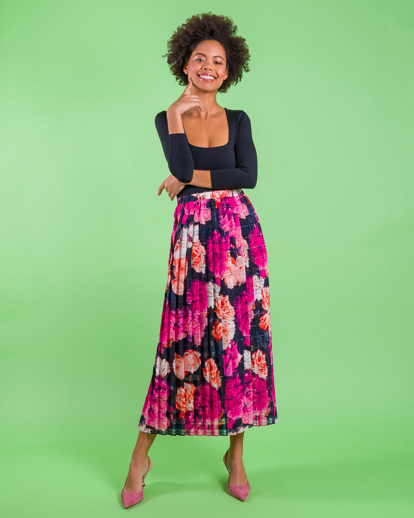 Rose Side Pleat Madison Skirt
