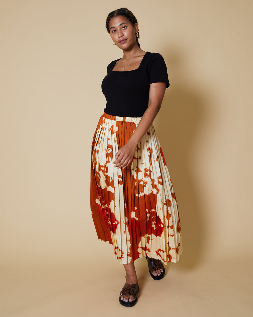 Pony Print Side Pleat Madison Skirt