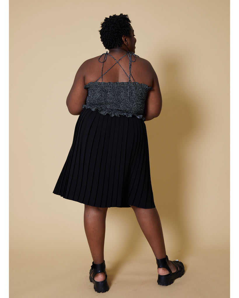Black Side Pleat Dylan Skirt