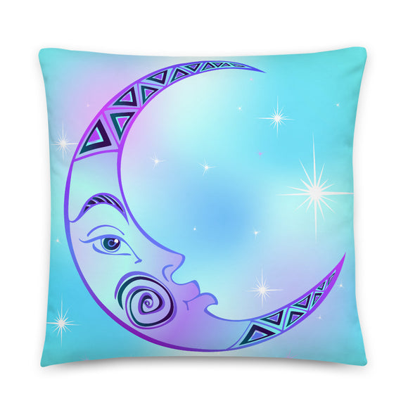 Moon Celestial Throw Pillow Case + Optional Pillow