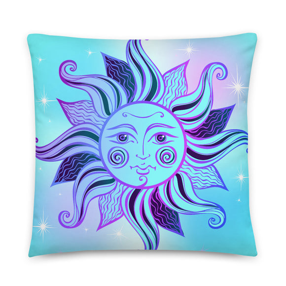 Sun Celestial Throw Pillow Case + Optional Pillow
