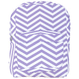 White Chevron Pattern Backpack in Various Colors