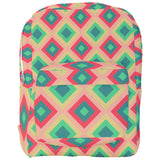 Pink and Green Diamonds Pattern Backpack