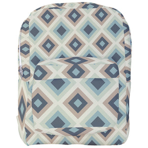 Gray Diamonds Pattern Backpack