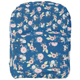 Blue Floral with Hearts Pattern Backpack