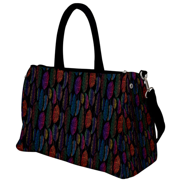 Feather Pattern Travel Bag