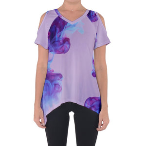 Ink Swirls Cold Shoulder Top