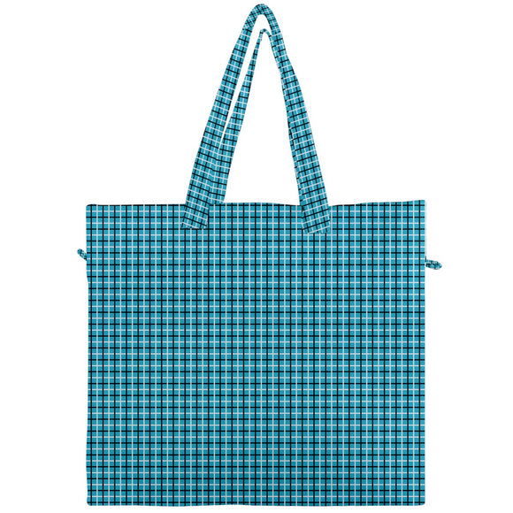 Blue, Black, and White Canvas Travel Tote