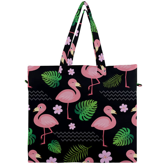Flamingo Pattern Canvas Travel Tote