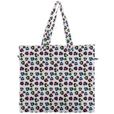Colorful Leopard Print Canvas Travel Tote