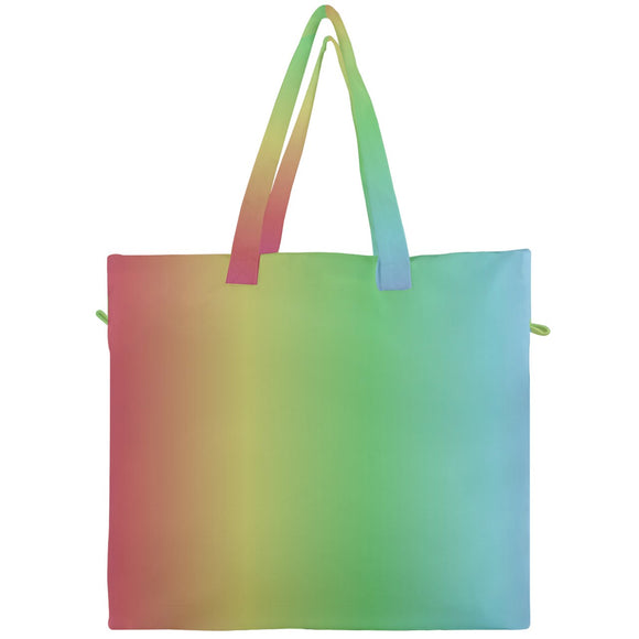 Colorful Ombre Canvas Travel Tote