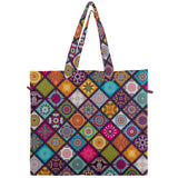Mandala Patchwork Design Canvas Travel Tote