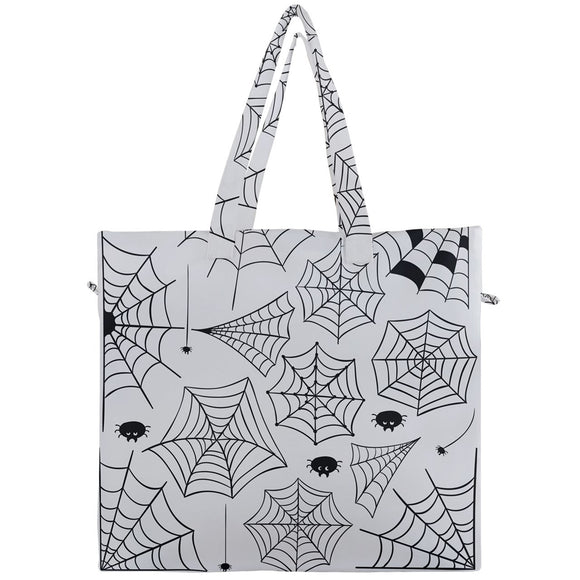 Spiderwebs Canvas Travel Tote