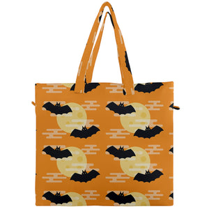 Bats and Moons Canvas Travel Tote
