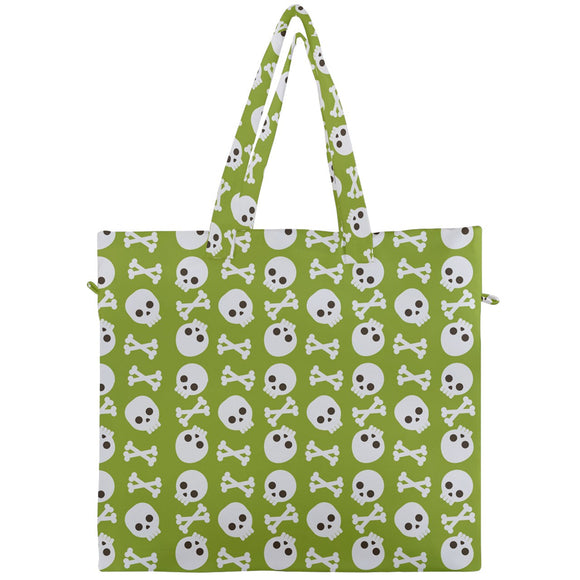 Skulls and Bones Canvas Travel Tote