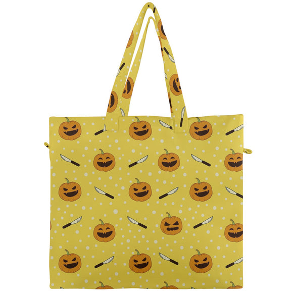 Jack O'Lanterns and Carving Knives Canvas Travel Tote