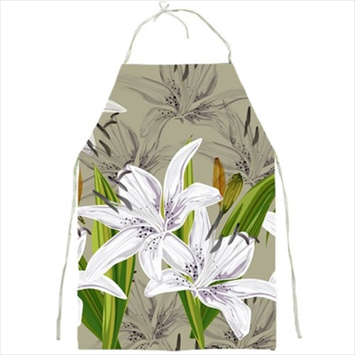 White Lilies Barbecue/Kitchen Apron