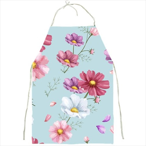Floral Pattern Blue Barbecue/Kitchen Apron
