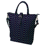 Skull Pattern Buckle Top Tote Bag