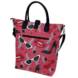 Diva Pattern Buckle Top Tote Bag