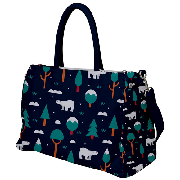 Polar Bear Pattern Travel Bag