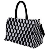 Black and White Geometric Pattern Travel Bag