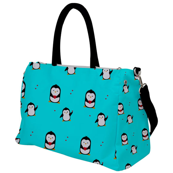 Penguins Hearts Pattern Travel Bag