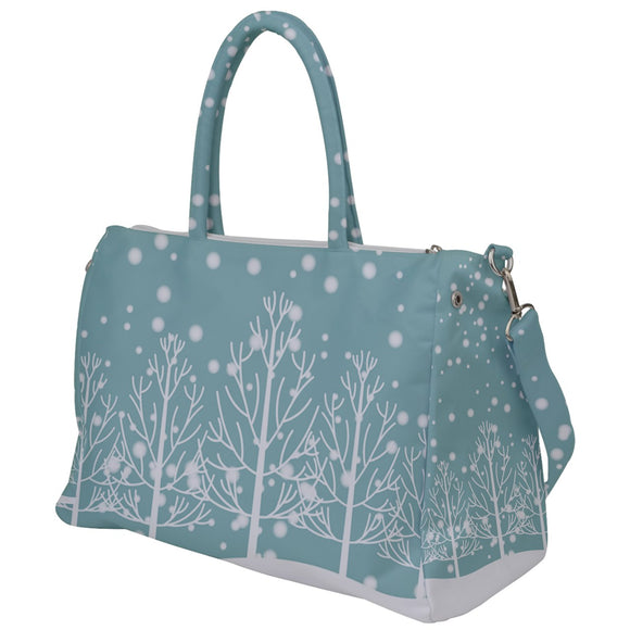Snowy Trees Winter Scene Travel Bag