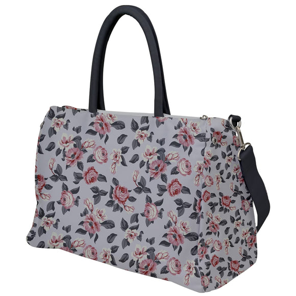 Gray Floral Travel Bag