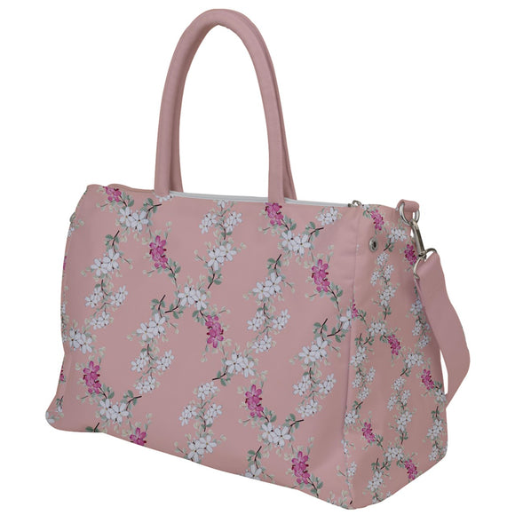 Pink Floral Travel Bag