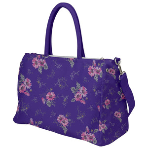 Purple and Pink Floral Travel Bag