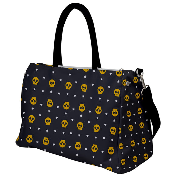 Skulls, Hearts, and Stars Travel Bag