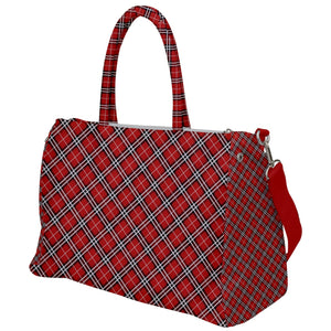 Red Argyle Pattern Travel Bag