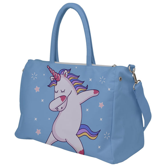 Dabbing Unicorn Print Travel Bag