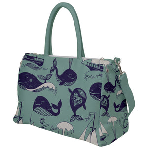 Whales and Ships Travel Bag
