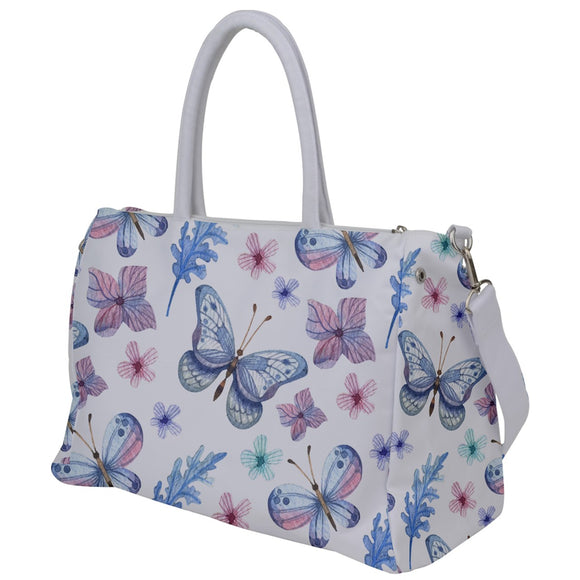 Blue Butterflies Pattern Travel Bag