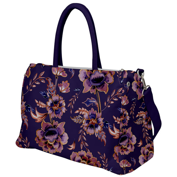 Purple Floral Travel Bag