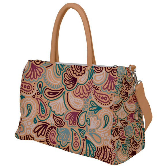 Orange and Red Paisley Travel Bag