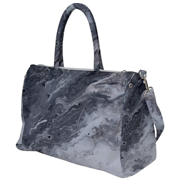 Black and White Marble Design Travel Bag