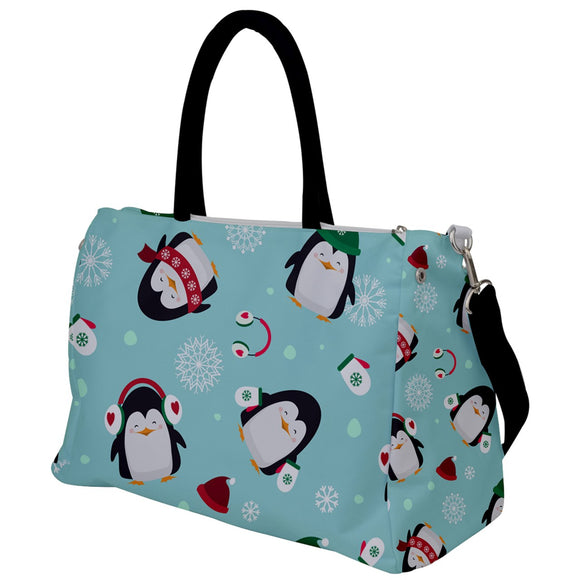 Penguins Winter Pattern Travel Bag