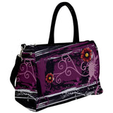 Flowers and Swirls Travel Bag