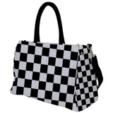 Black and White Checkered Travel Bag