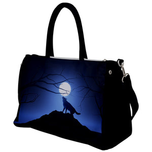 Wolf Full Moon Travel Bag
