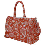 White Paisley Pattern Travel Bag - Various Colors