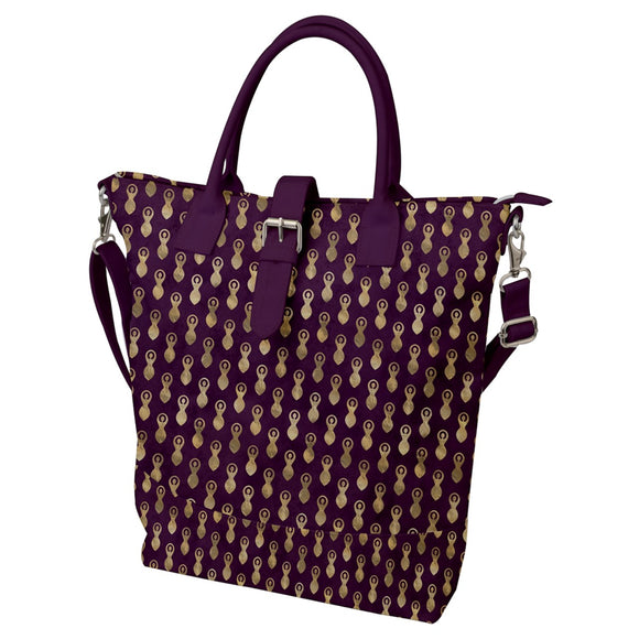 Goddess Symbol Pattern Buckle Top Tote Bag