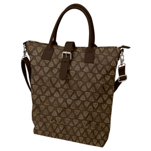 Triquetra Trinity Knot Brown Buckle Top Tote Bag