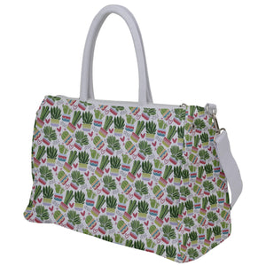 Cactus and Hearts Pattern Travel Bag